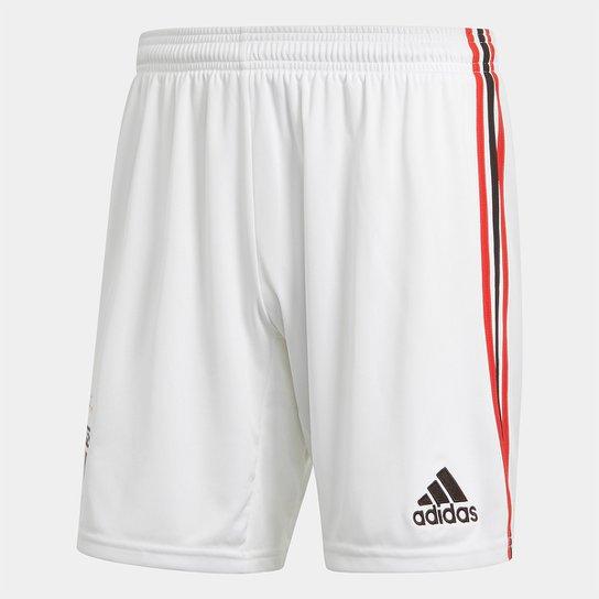 Calção São Paulo I 20/21 s/n° Torcedor Adidas Masculina - Branco+Vermelho