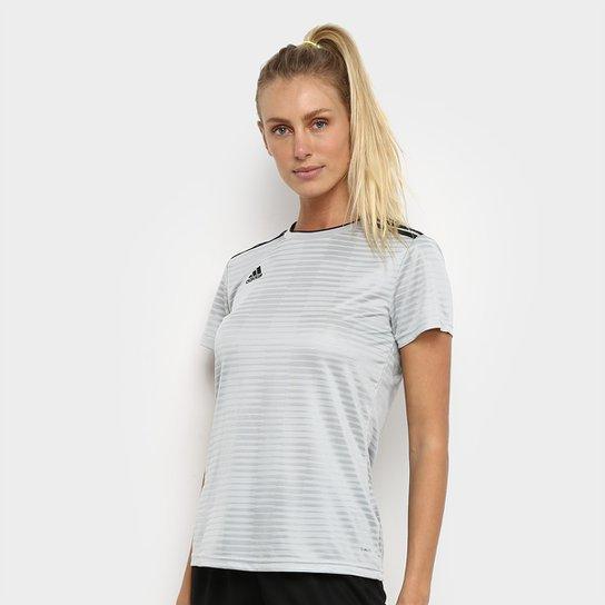 Camisa Adidas Condivo 18 Feminina - Off White+Preto