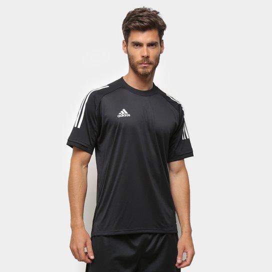 Camisa Adidas Condivo 20 Masculina - Preto+Branco