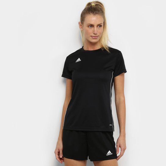 Camisa Adidas Core 18 Feminina - Preto+Branco