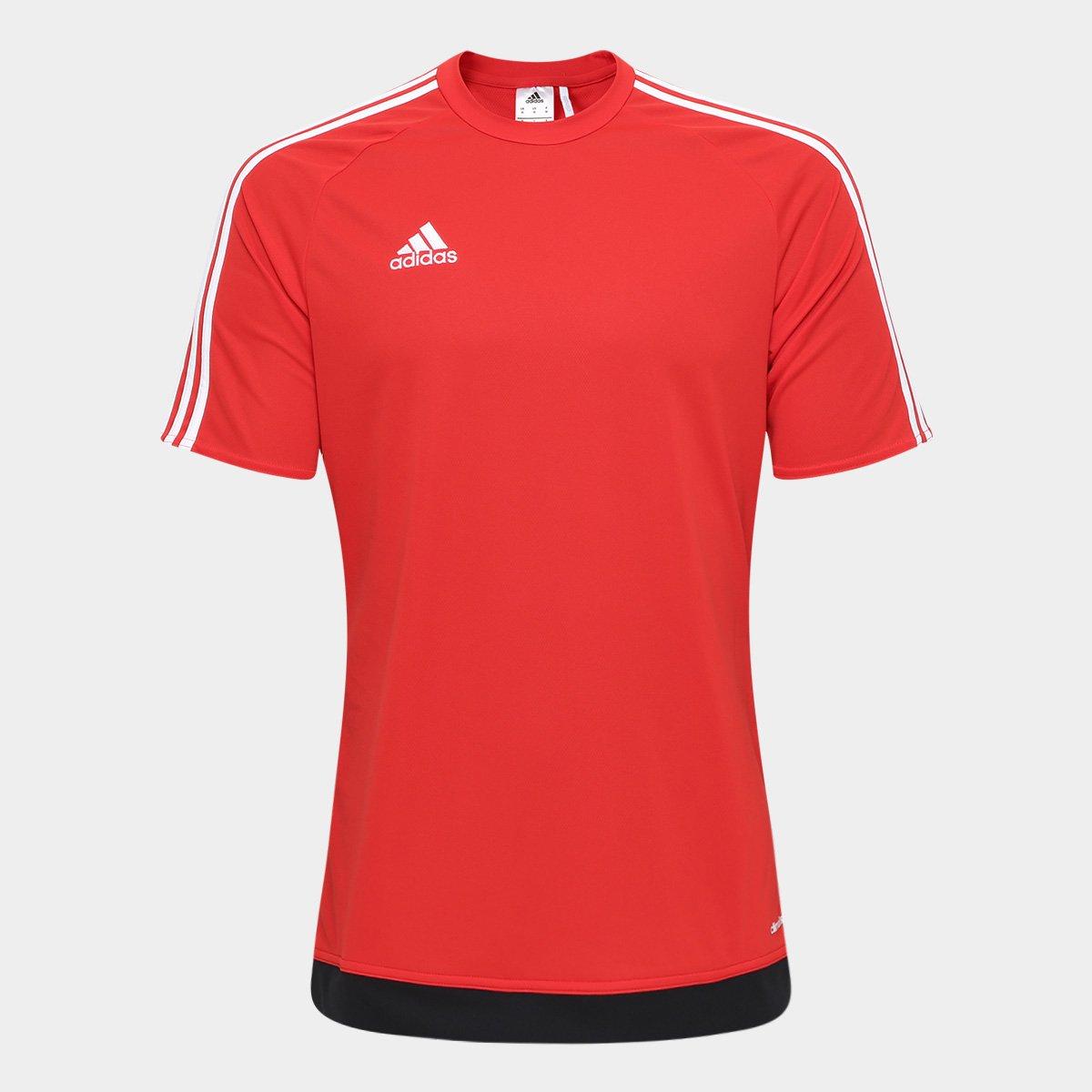 0d9a6c4f09 Camisa Adidas Estro 15 Masculina - Vermelho e Preto - Compre Agora ...