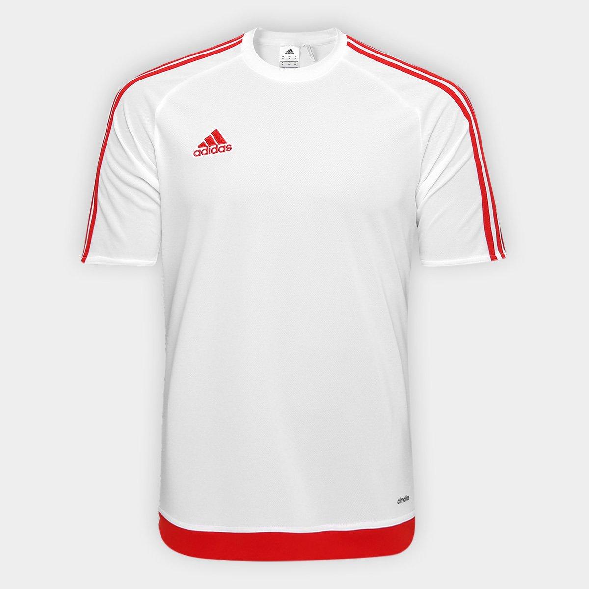 a16800fd3aa Camisa Adidas Estro 15 Masculina - Branco e Vermelho - Compre Agora ...