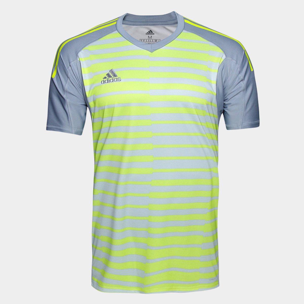 Camisa Adidas Goleiro Adipro 18 Masculina - Cinza e Amarelo - Compre ... 86b252be6e872