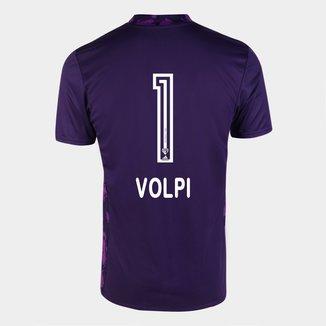 Camisa de Goleiro São Paulo I 20/21 n° 1 - Volpi - c/ Patrocínio Torcedor Adidas Masculina
