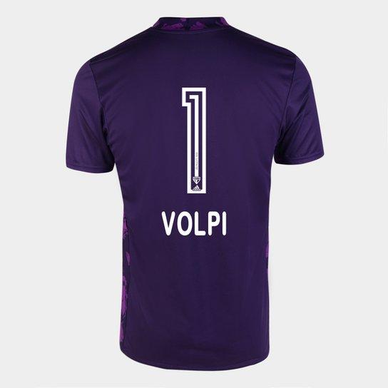 Camisa de Goleiro São Paulo I 20/21 n° 1 - Volpi - c/ Patrocínio Torcedor Adidas Masculina - Roxo