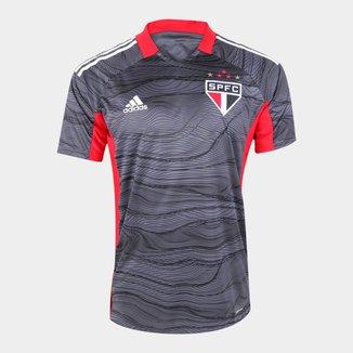 Camisa de Goleiro São Paulo I 21/22 s/n° Torcedor Adidas Masculina