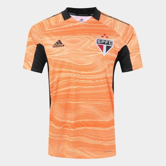 Camisa de Goleiro São Paulo II 21/22 s/n° Torcedor Adidas Masculina - Laranja