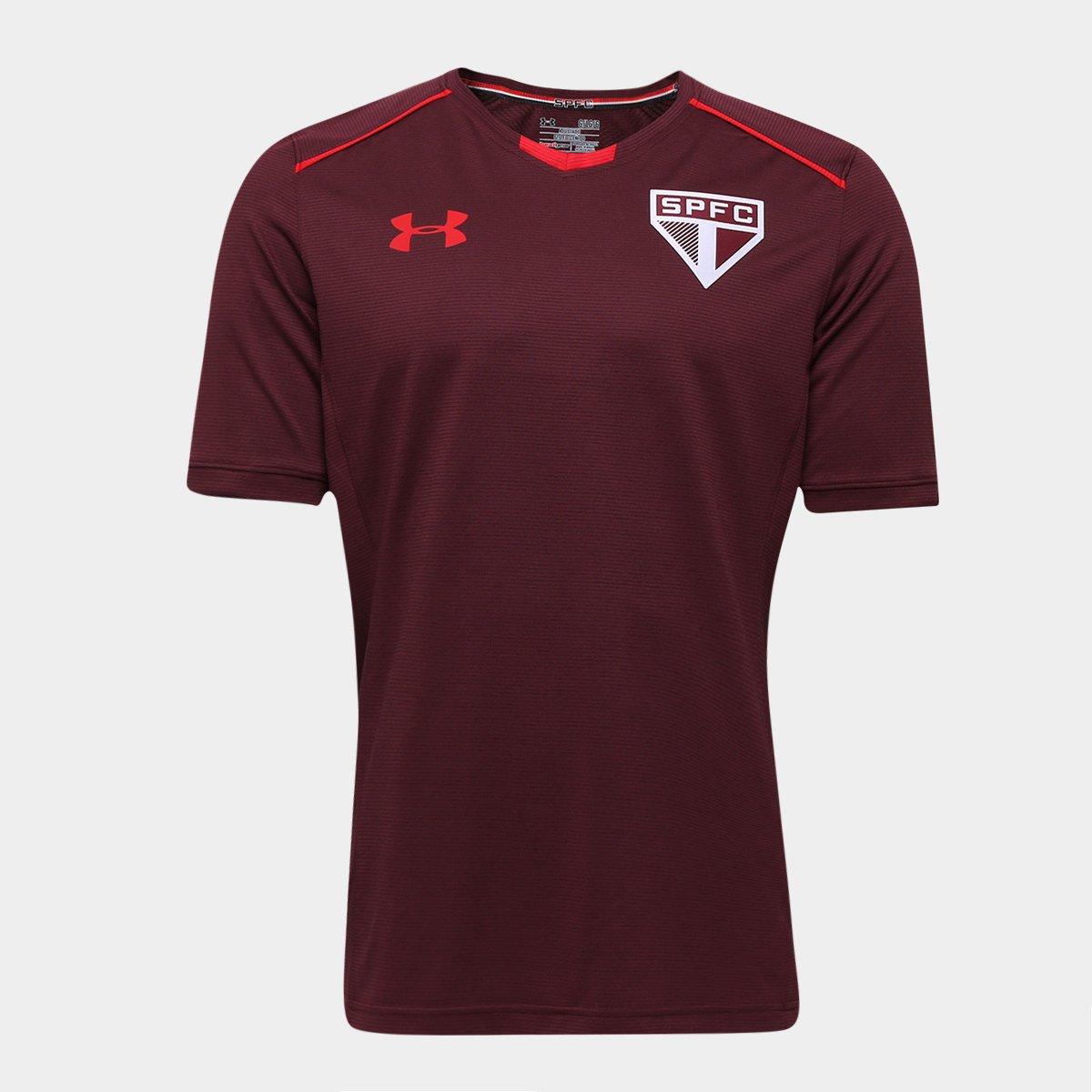 979c1e9030e Camisa de Treino São Paulo 17 18 Under Armour Masculina - Bordô - Compre  Agora