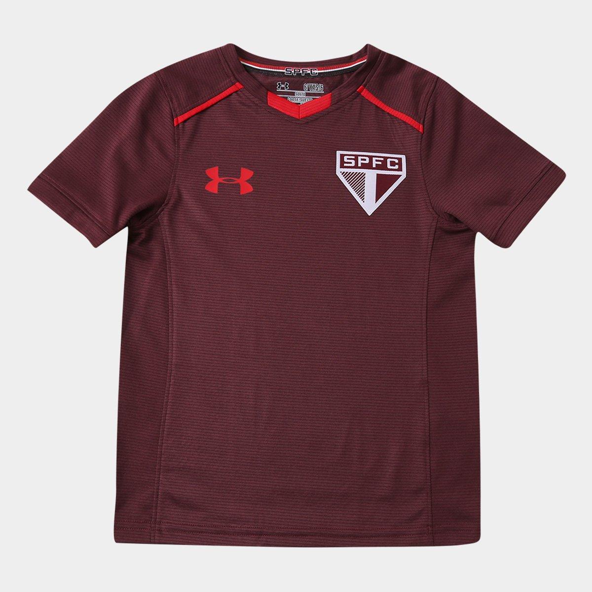 b12684e80c1 Camisa de Treino São Paulo Infantil 17 18 Under Armour - Vinho - Compre  Agora