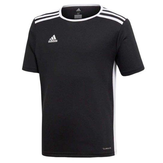 Camisa Infantil Adidas Entrada 18 - Preto+Branco