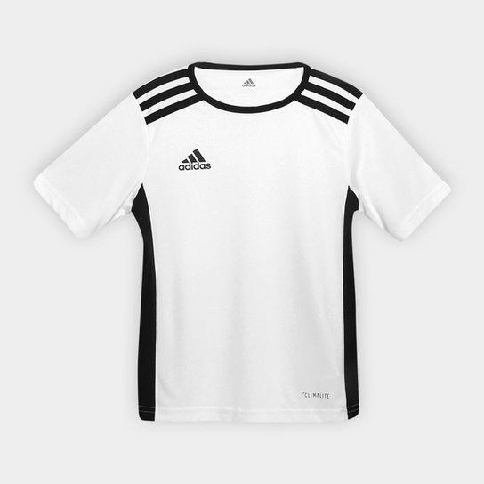 Camisa Infantil Adidas Entrada 18 - Branco+Preto