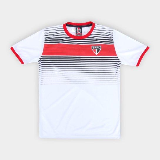 Camisa Infantil São Paulo Label - Branco