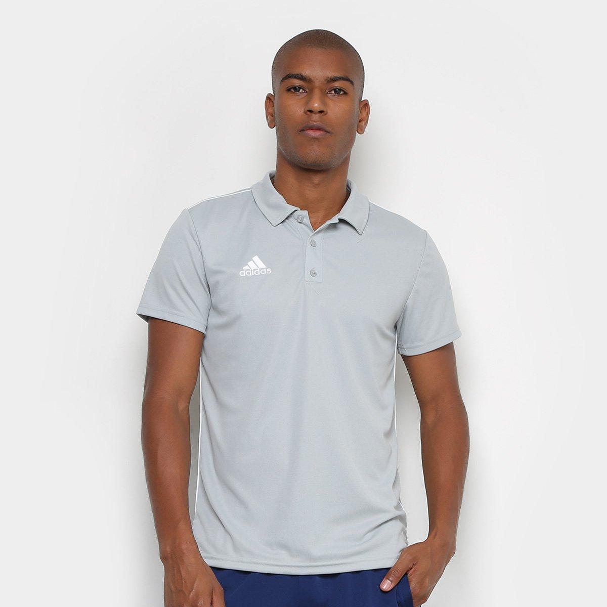 4ec516df7d4 Camisa Polo Adidas Core 18 Masculina - Branco - Compre Agora