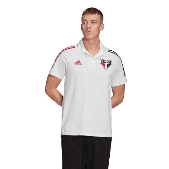 Camisa Polo São Paulo 20/21 Adidas Masculina - Branco