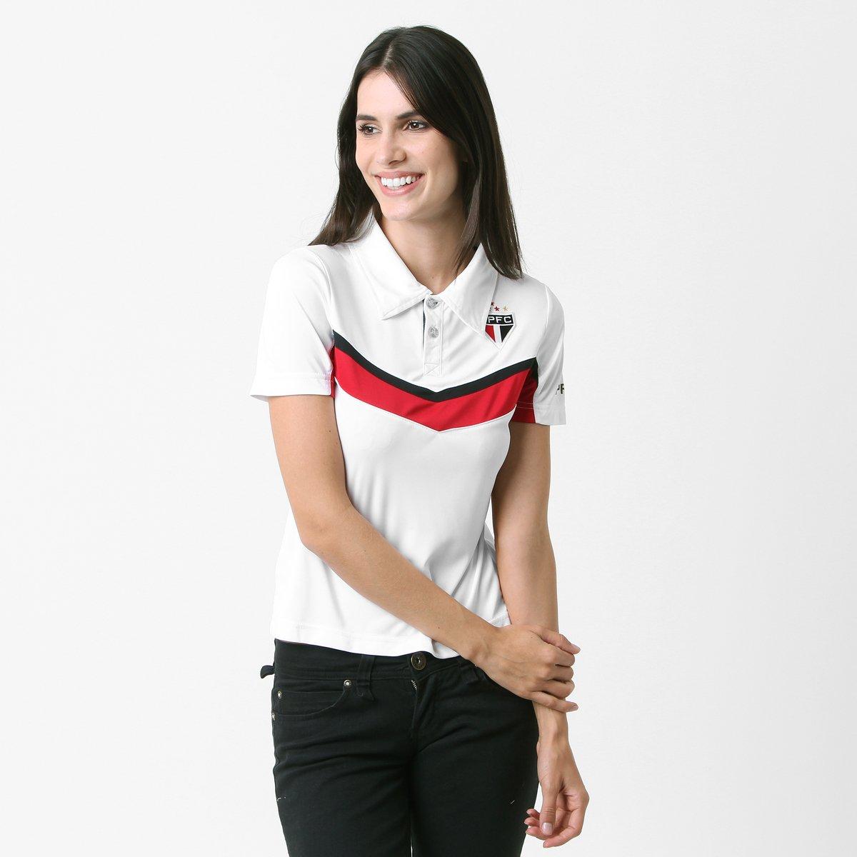 b9f5eb95ae456 Camisa Polo São Paulo c  Recorte Feminina - Compre Agora