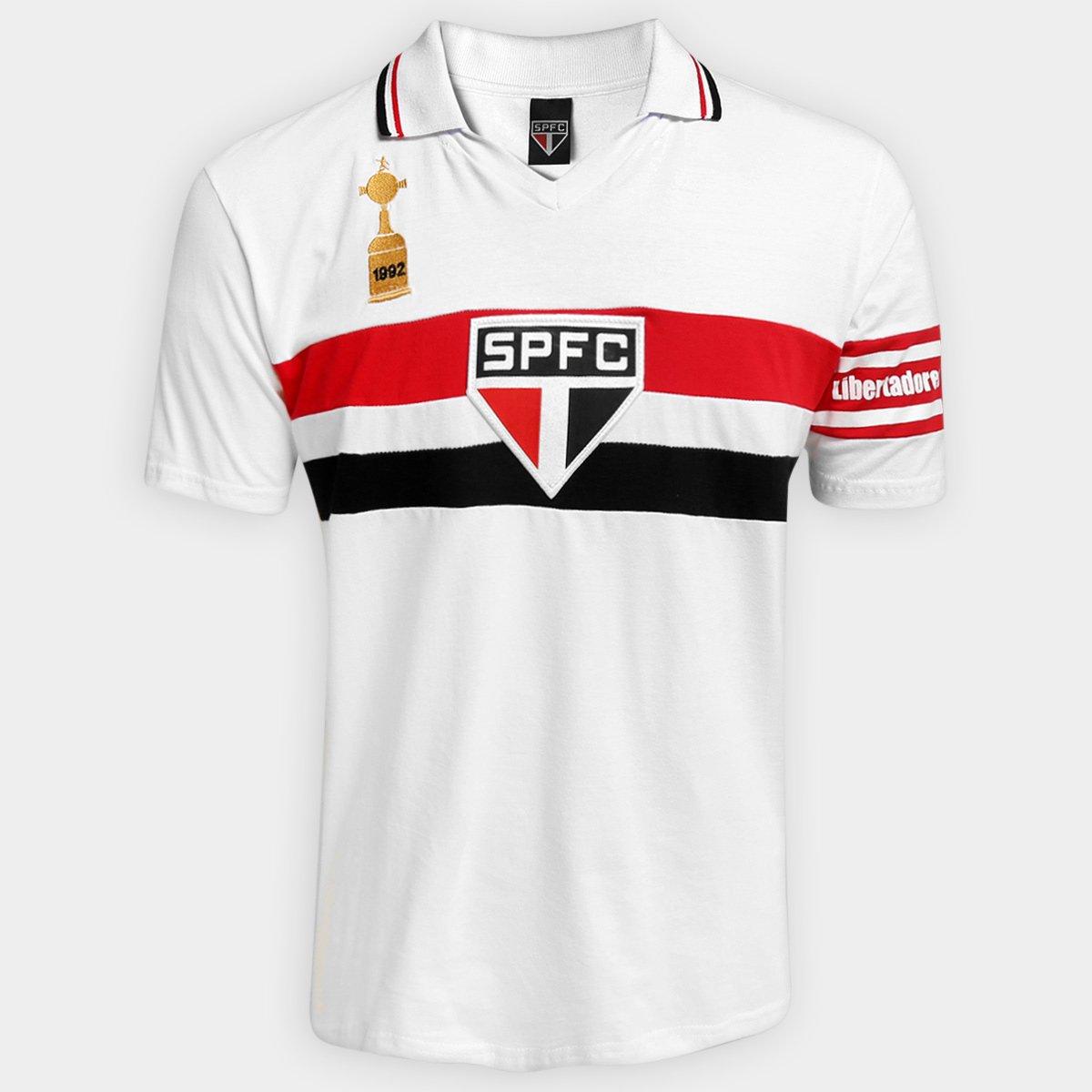 Camisa Polo São Paulo Capitães Libertadores 1992 Masculina - Branco ... 418a8f8ae8646