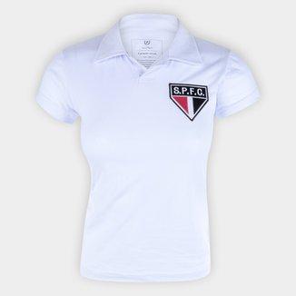 Camisa Polo São Paulo Retrô Mania Feminina