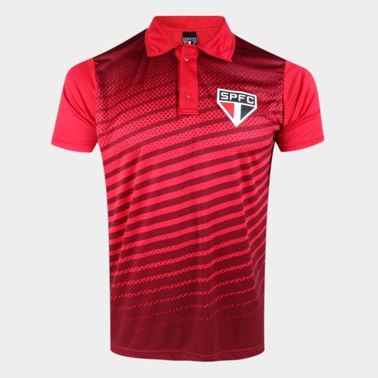 Camisa Polo São Paulo Soberano Masculina - Vermelho