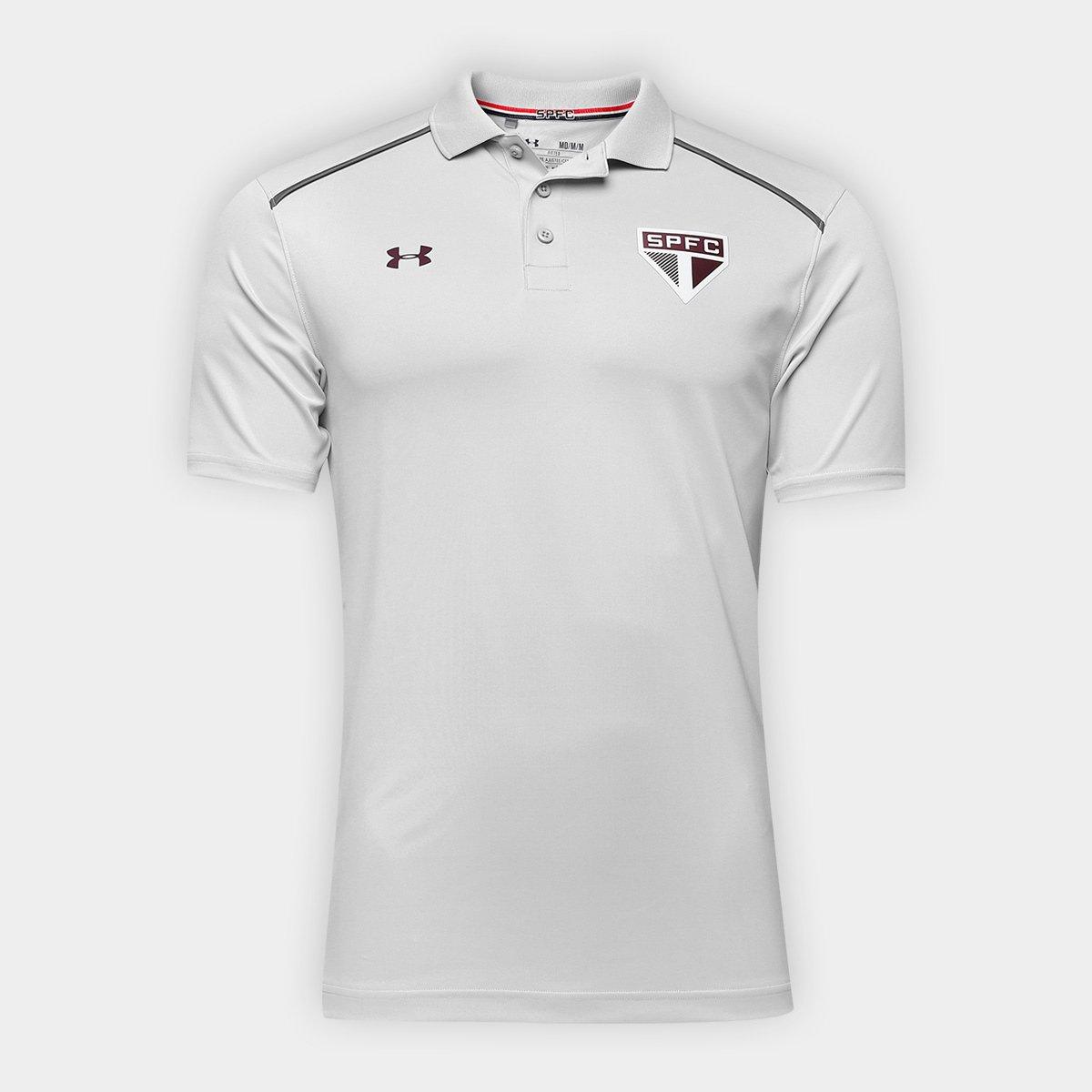 Camisa Polo São Paulo Under Armour 17 18 Viagem Masculina - Compre ... a7e392874aea3