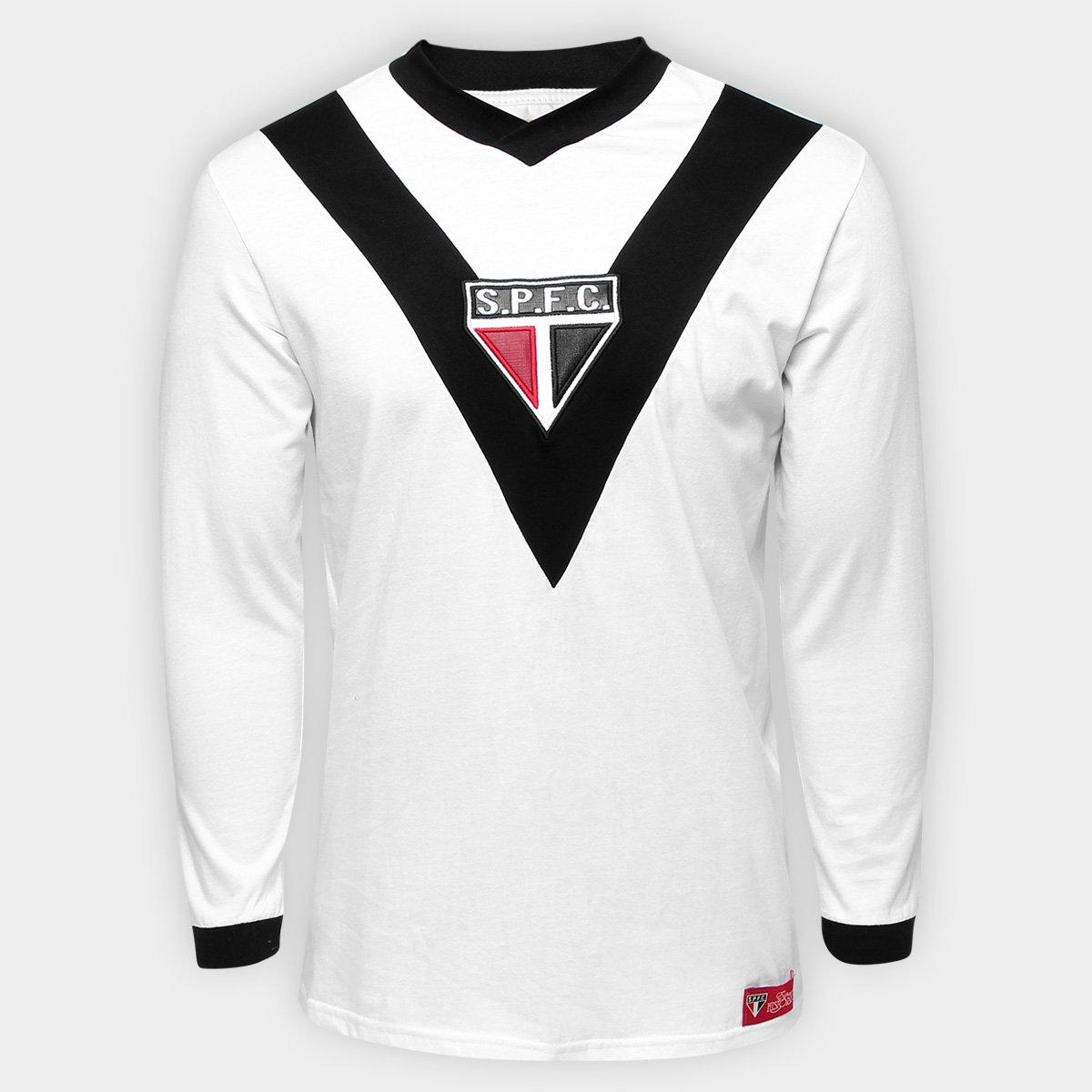 f7b67f69ccc Camisa Retrô São Paulo Goleiro SPFC 1930 Manga Longa Masculina - Compre  Agora