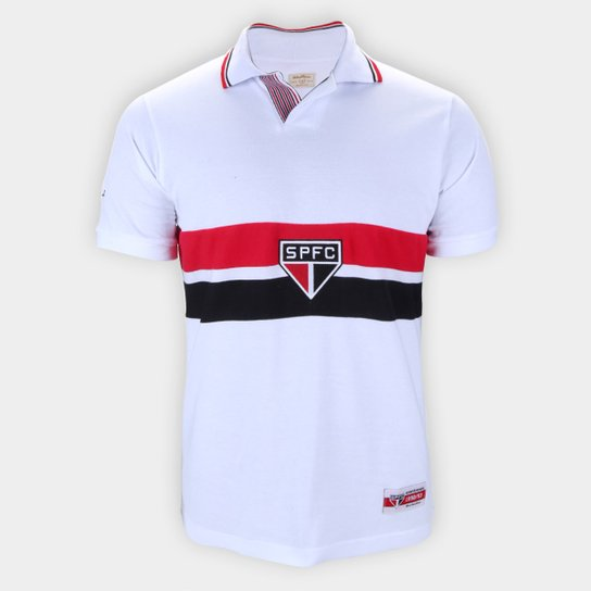 Camisa São Paulo 92/93 Bi Mundial Retrô Mania Masculina - Branco