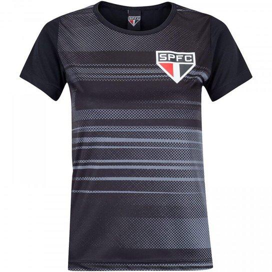 Camisa São Paulo Agile Feminina - Preto