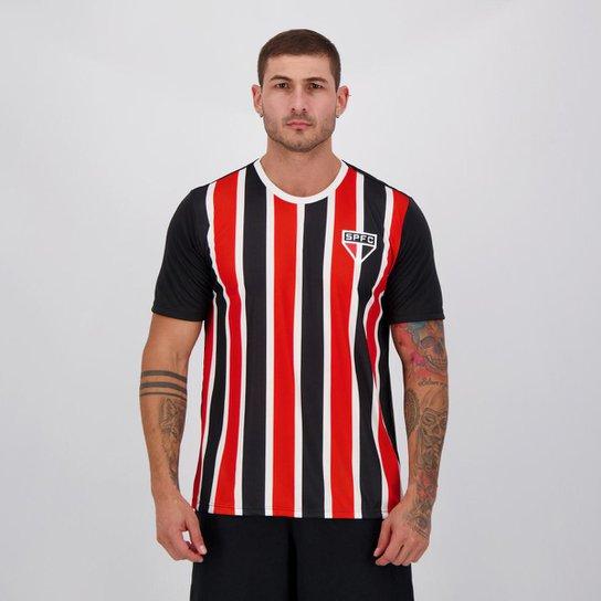 Camisa São Paulo Change Masculina - Preto+Vermelho
