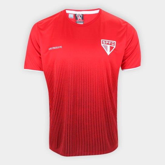 Camisa São Paulo Court Masculina - Vermelho