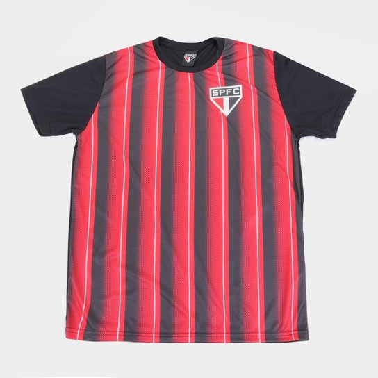 Camisa São Paulo Handley Masculina - Preto+Vermelho