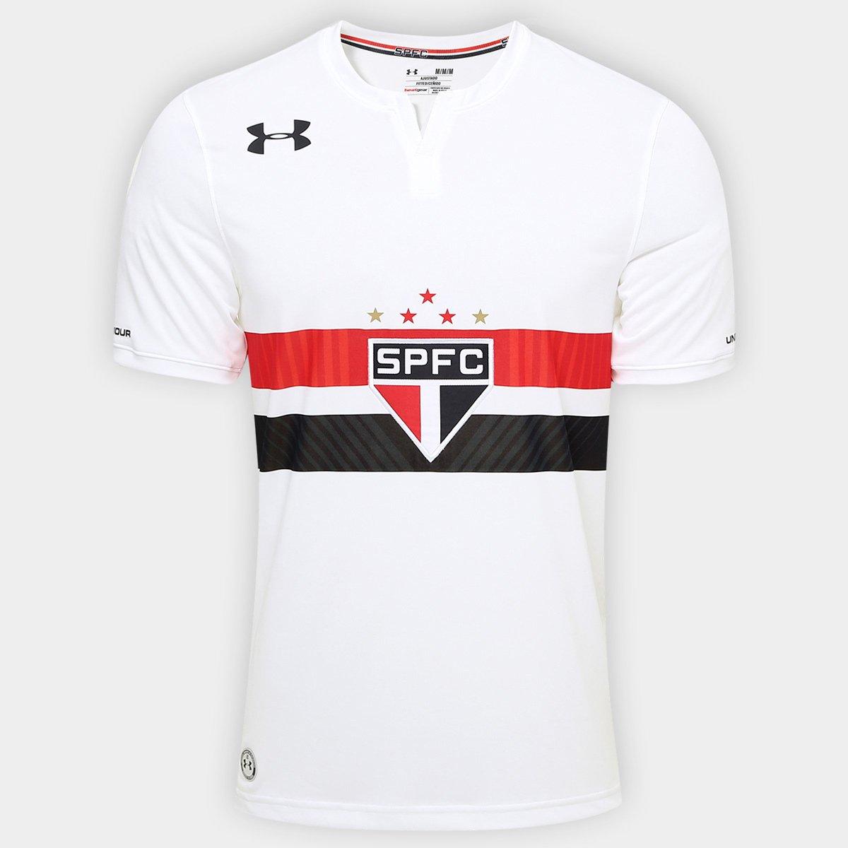 Camisa São Paulo I 17 18 s nº Torcedor Under Armour Masculina ... 9dc7f9b295aaf