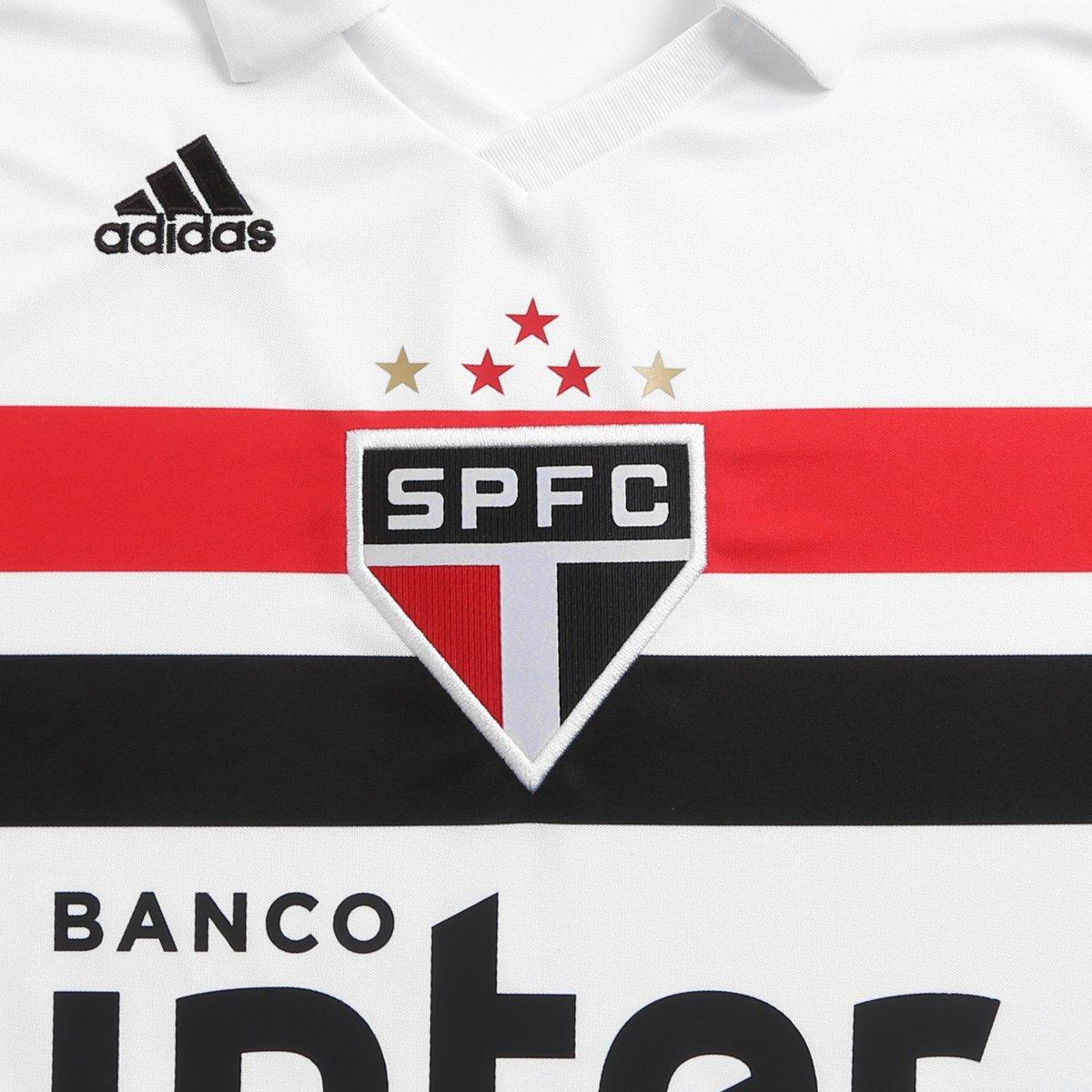 46de25b1c3 Camisa São Paulo I 2018 n° 9 Diego Souza Torcedor Adidas Masculina ...