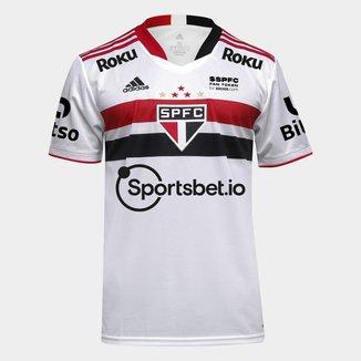 Camisa São Paulo I 21/22 c/ Patrocínio Torcedor Adidas Masculina