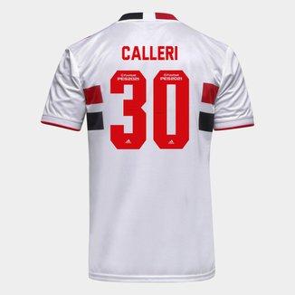 Camisa São Paulo I 21/22 Calleri Nº 30 Torcedor Adidas Masculina