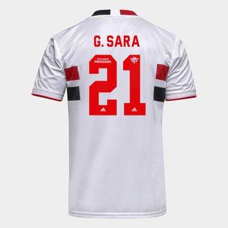 Camisa São Paulo I 21/22 G. Sara Nº 21 Torcedor Adidas Masculina