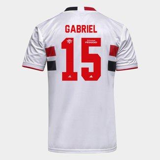 Camisa São Paulo I 21/22 Gabriel N. Nº 15 Torcedor Adidas Masculina