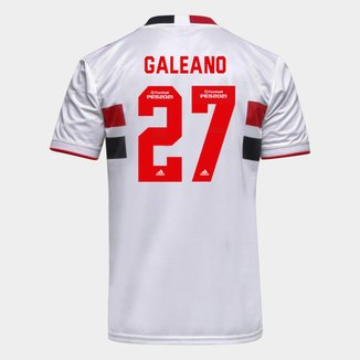 Camisa São Paulo I 21/22 Galeano Nº 27 Torcedor Adidas Masculina