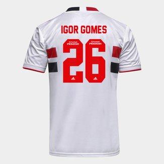 Camisa São Paulo I 21/22 Igor Gomes Nº 26 Torcedor Adidas Masculina