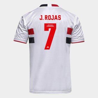 Camisa São Paulo I 21/22 J. Rojas Nº 7 Torcedor Adidas Masculina