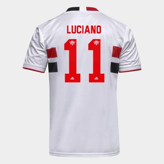 Camisa São Paulo I 21/22 Luciano Nº 11 Torcedor Adidas Masculina