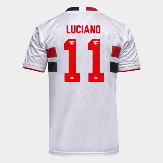 Camisa São Paulo I 21/22 Luciano Nº 11 Torcedor Adidas Masculina - Branco+Vermelho