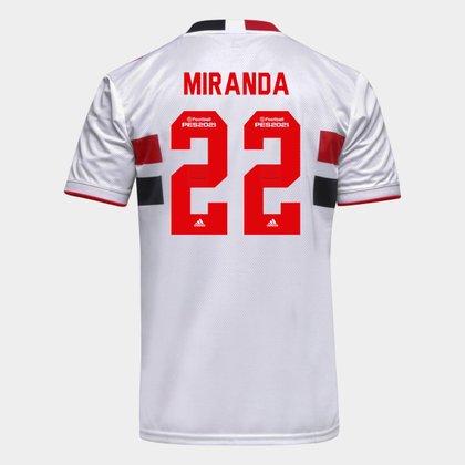 Camisa São Paulo I 21/22 Miranda Nº 22 Torcedor Adidas Masculina