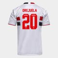 Camisa São Paulo I 21/22 Orejuela Nº 20 Torcedor Adidas Masculina