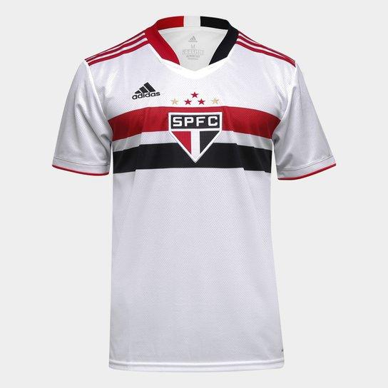 Camisa São Paulo I 21/22 s/n° Torcedor Adidas Masculina - Branco+Vermelho