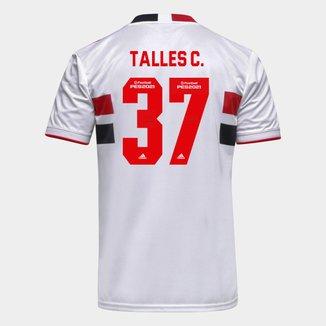 Camisa São Paulo I 21/22 Talles C. Nº 37 Torcedor Adidas Masculina