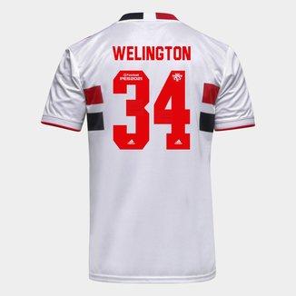 Camisa São Paulo I 21/22 Welington Nº 34 Torcedor Adidas Masculina