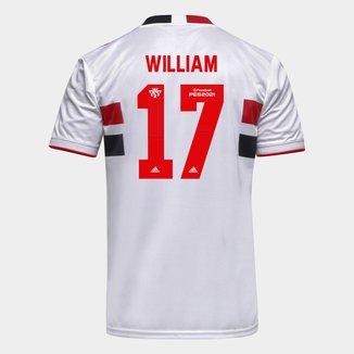 Camisa São Paulo I 21/22 William Nº 17 Torcedor Adidas Masculina