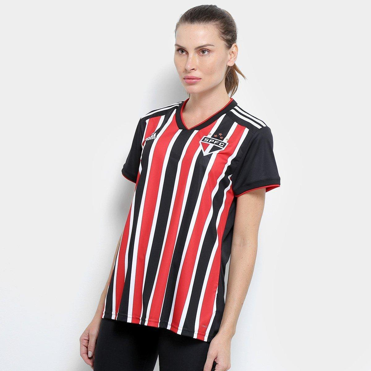 680805666e Camisa São Paulo II 2018 s/n° Torcedor Adidas Feminina - Vermelho e Branco  | São Paulo Mania