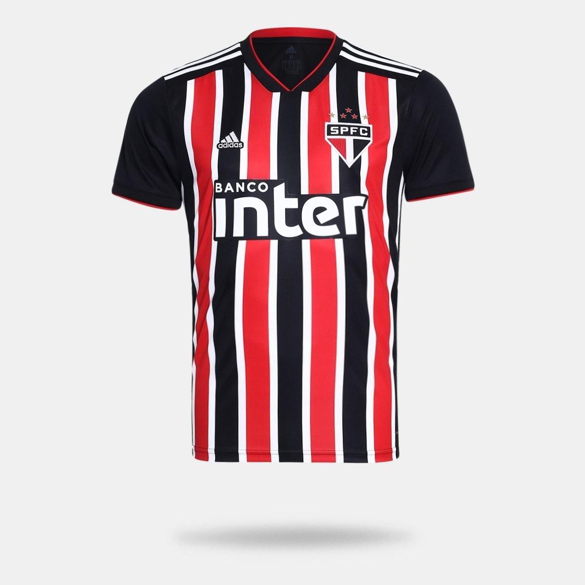 Camisa São Paulo II 2018 s n° Torcedor Adidas Masculina - Vermelho e ... d100cd224c3ba