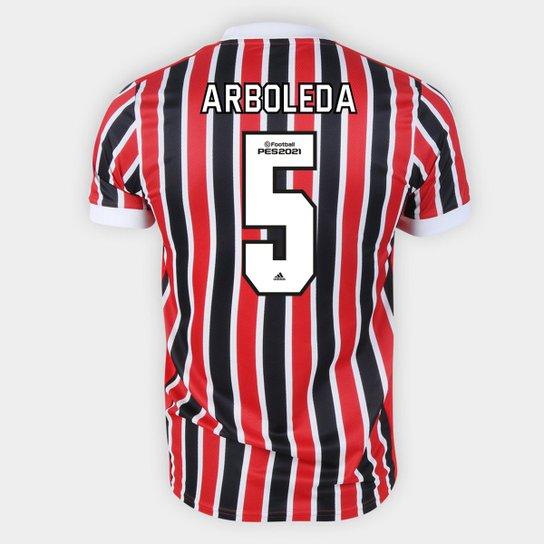 Camisa São Paulo II 21/22 Arboleda Nº 5 Torcedor Adidas Masculina - Vermelho+Branco