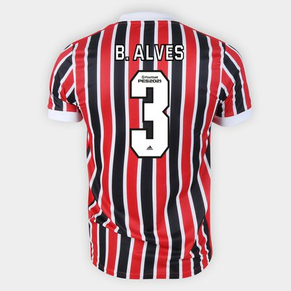 Camisa São Paulo II 21/22 B. Alves Nº 3 Torcedor Adidas Masculina